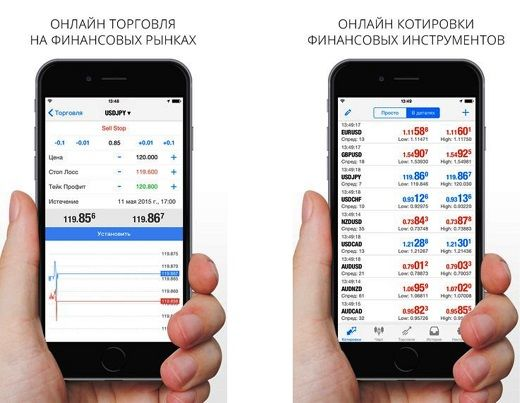 мобильный терминал метатрейдер iphone ios