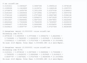 пример работы на 50 случайных монетах с балансами от 0 до 1 биткоина